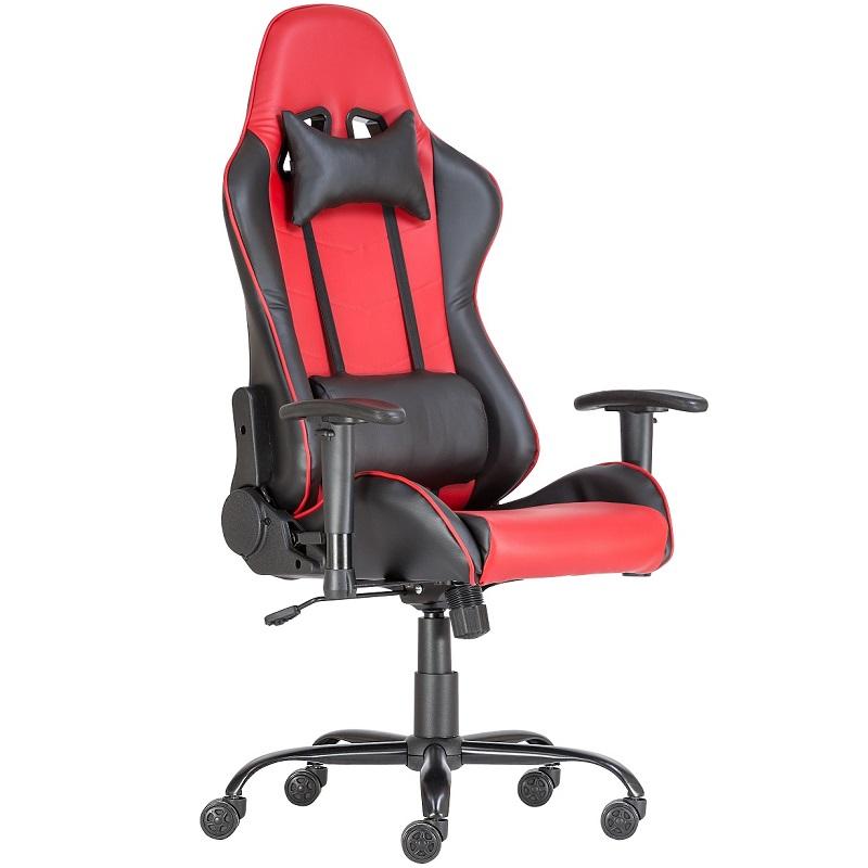 Gamer szék piros színben fej- és derék támasszal
