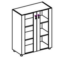 Üvegajtós szekrény
