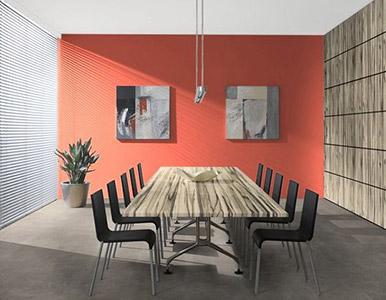 Modern irodaszékek modern tárgyalóasztallal