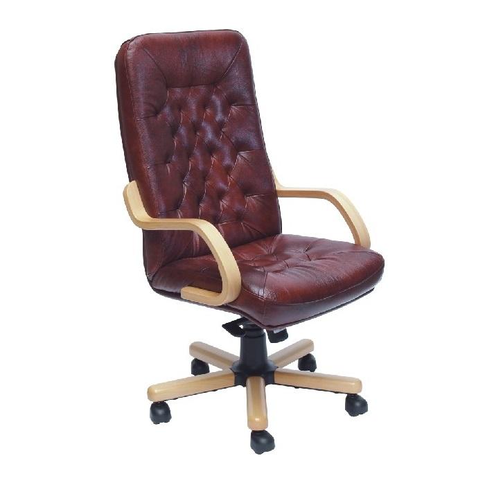 Főnöki szék bordó bőrrel