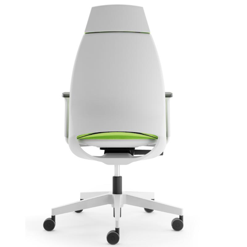 Zöld-fehér színben kapható fejtámlás szék