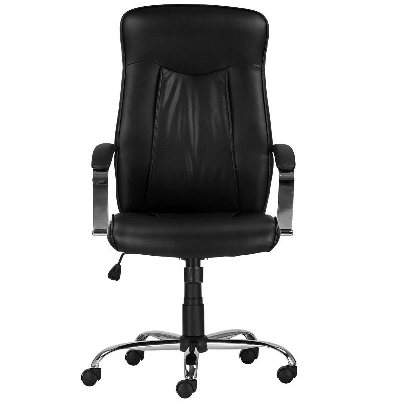 Főnöki szék fekete textilkárpittal
