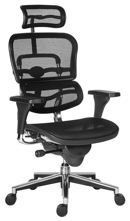 ERGOHUMAN prémium ergonomikus forgószék fejtámlával